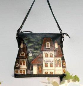 Женская сумка из натуральной кожи через плечо