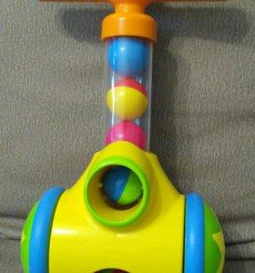 Каталка, стреляющая шарами