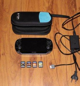 PS Vita 1000 4GB памяти 4 игры