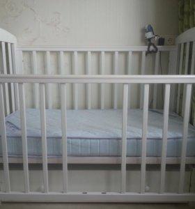 Кроватка детская Кубаньлесстрой Ромашка