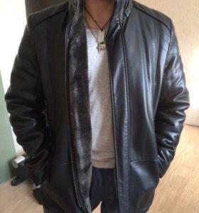 Кожаная куртка мужская( зимняя)
