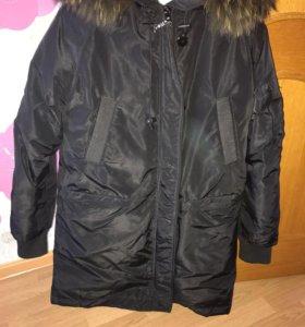 Пуховик-Куртка зима, натуральный мех