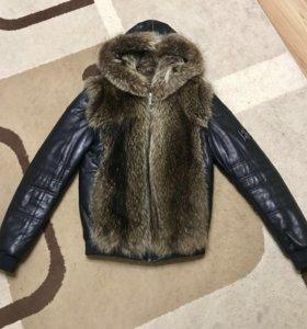 Куртка мужская кожа мех