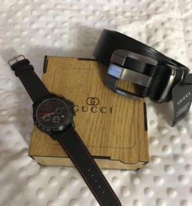 Набор часы, ремень, коробка