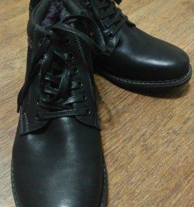 Ботинки мужские,Новые,натуральная кожа, 42 размер