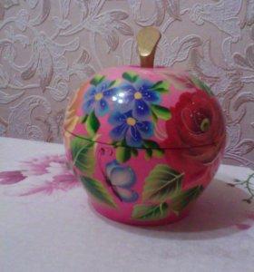 Шкатулка - яблоко , ручная работа