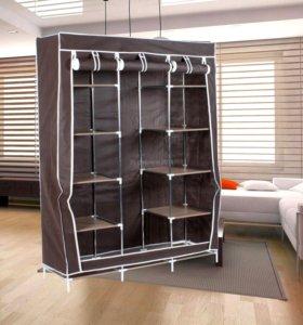 Новый каркасный тканевый шкаф - коричневый