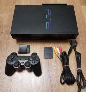 PlayStation 2 +79 ИГР 2 Джойстика  (прошита)