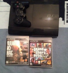 PlayStation3 SuperSlim 500GB + GTA5,Last of Us