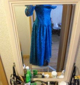 Бирюзовое платье для театра, ролевой игры, свадьбы