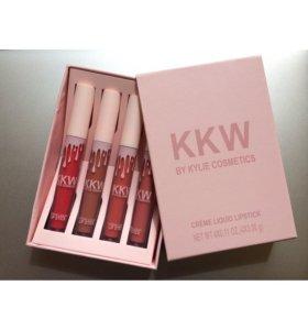 KKW кремовые жидкие помады Kylie - 4 штук