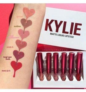 Набор жидких помад Kylie Valentine Collection 6в1
