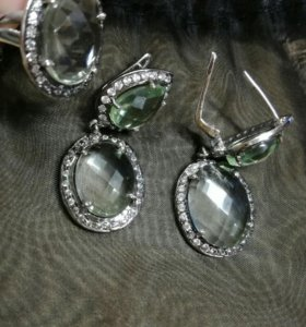 Серьги, кольцо серебро