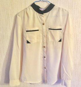 Кремовая блуза