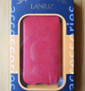 Чехол Lanriz красный для iPhone 4/4S
