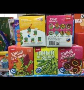 Юный агроном - детский набор для выращивания