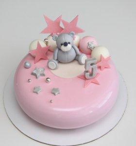 Муссовый торт детский для девочек