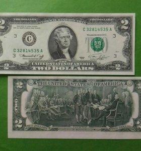 США 2 доллара 1976 г. (С) Юбилейная UNC Пресс