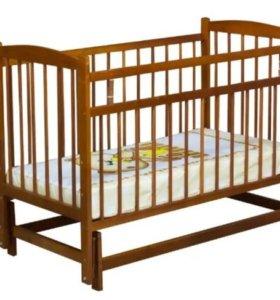 Детская новая кроватка-маятник