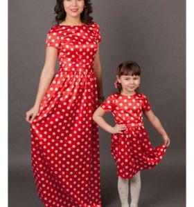 Платья для мамы и дочки в стиле Family Look