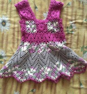 Продам вязаное платье