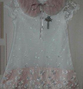 Нарядное платье/колготки и повязка