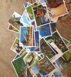 Карточки из Дикси . Динозавры