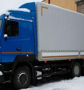 Бортовой МАЗ-6312С9-520-010 с тентом, 14 тонн