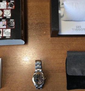 Швейцарские часы Tissot с позолотой