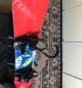 Сноуборд, ботинки, крепления, чехол