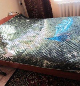 Кровать с матрацом, усиленная доской 40 мм