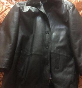 Новая кожаная куртка зима