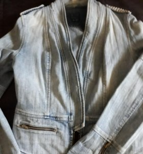 Куртка джинсовая светло-голубая