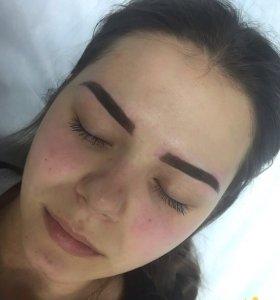 Перманентный макияж, коррекция, окрашивание бровей