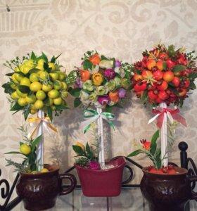 Фруктовые и цветочные топиарии