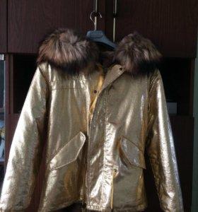 Куртка женская зимняя с кроличьим мехом