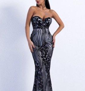 Платье вечернее в пол длинное