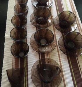Чайной - кофейный набор + стаканы.Франция.