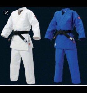 Кимоно для дзюдо белое рост 165-170