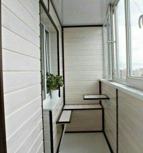 Отделка балконов,бань,саун,домов,помещений