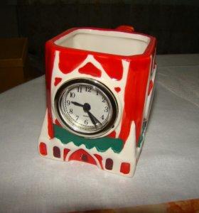 Чашка сувенирная часы, статуэтка лошадь
