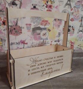 Ящик для цветочных композиций и подарочных наборов