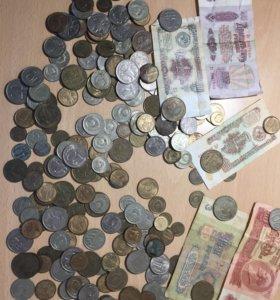 Монеты ссср и одна монета иностранная