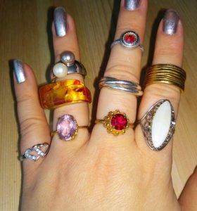Кольца на палец разные
