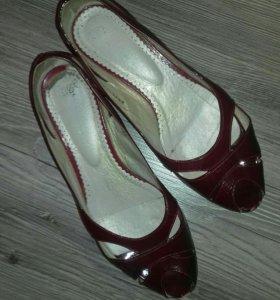 Туфли кожаные размер 39