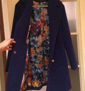 Пальто синее р 44-46