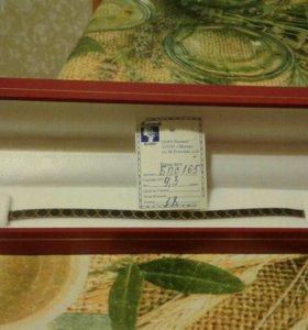 Новый сер5бряный браслет