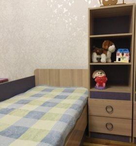 Комплект кровать и тумба