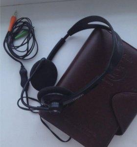 Надежные наушники с микрофоном canyon