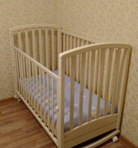 """Детская кроватка """"Гандылян"""" с матрасом"""
